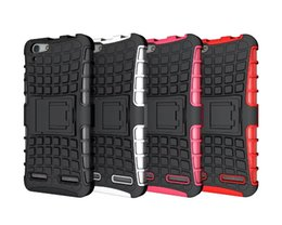 Wholesale Lenovo Mobiles Covers - Wholesale for Lenovo K5 Plus Mobile Phone Case Hybrid Kickstand Case Protective Cover TPU + PC Combo Case