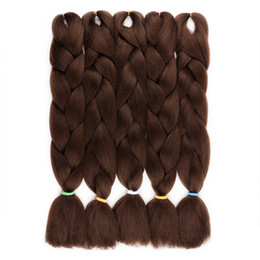 FASHION FREE SHIPING EASY Jumbo BRAIDS SYNTHETIC braiding hair synthetic two tone color JUMBO BRAIDS extension 24inch ombre box braids hair Deals