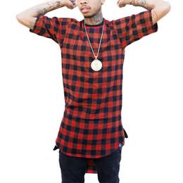 2019 camiseta tyga Cremallera A cuadros Hip Hop camiseta hombres Star Look Hombre Hiphop Skakeboard Streetwear Swag Camiseta Tops Camisetas Camiseta Hombre Estilo Tyga camiseta tyga baratos