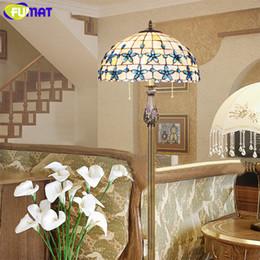 FUMAT Lilac Shell Lampadaire au sol New European Mediterranean Bleu Chambre Lampadaire 16 pouces Salon Lampadaire E27 LED ? partir de fabricateur