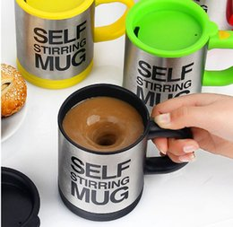 Wholesale China Coffe - Wholesale- Urijk 400ML Coffe Mug Automatically Stir The Coffee Cup Electric GlassLazy Person Mark Stainless Steel Two Layers Insulation