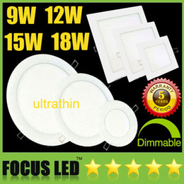 Wholesale Ceiling Led Down Lights - Lowest Price Ultrathin 9W 12W 15W 18W 23W LED Panel Lights SMD2835 Downlight AC110-240V Fixture Ceiling Down Lights Warm Cool Natural White