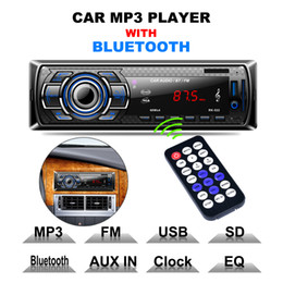 Wholesale Vehicle Amplifier - Bluetooth Car Radio MP3 Player Vehicle Stereo Audio with Remote Control Support FM USB SD AUX In CAU_01S