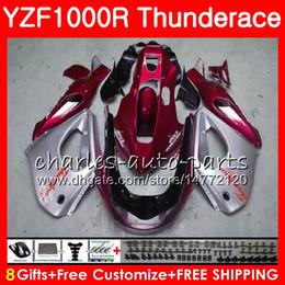 Yamaha thunderace red on-line-Corpo Para YAMAHA Thunderace YZF1000R Red prateado 96 02 03 04 05 06 07 84NO49 YZF1000R YZF 1000R 1996 2002 2003 2004 2005 2006 2007 Fairing