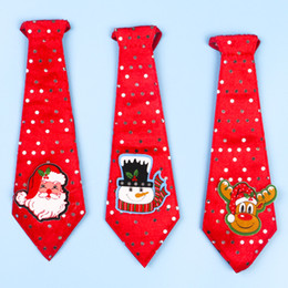 Wholesale Music Neck Ties - HOT Christmas decoration neck tie child student necktie 8 color 25cm necktie X-mas necktie kid Tie for Christmas gift
