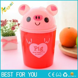 Wholesale Mini Garbage - 2017 Cute Mini Small Waste Bin Desktop Garbage Basket Table Home Office Trash Can Storage Box