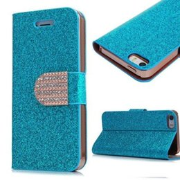 Wholesale Galaxy S4 Luxury Wallet Gold - Samsung Galaxy S4 5 6 Edge Note 2 3 4 5 Iphone 4S 5S 6S Plus Stand Wallet Cover Luxury Fashion Bling Glitter Diamond PU Leather Phone Case