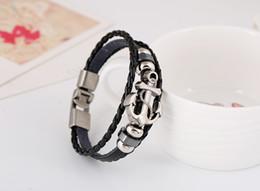 Wholesale Punk Studded - mens leather bracelets Cool Unisex bracelets Punk Wristband Metal Studded Leather Bracelets free shipping