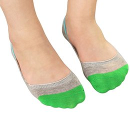 Wholesale Colored Socks For Women - Wholesale-2016Women Lot Colors Boat Socks Women Candy-colored Silicon Cotton Invisible Socks Cute Socks For Women Skarpety #521