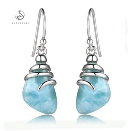 Wholesale Gift Products For Christmas - 925 sterling silver Larimar Earrings Recommend SS--3804 Christmas gift for women First class products Explosion models Favourite Fashion