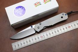 Wholesale D2 Sebenza - Chris Reeve Large Sebenza 24 folding knife D2 blade TC4 Titanium handle camping hunting kitchen fruit outdoor survive knife EDC tool