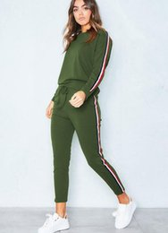 Wholesale tracksuit for women size xl - Women's Tracksuit Casual Costumes For Women Suit 2017 Autumn Winter Women's Suits Two Piece Set Sportswear Tracksuits Plus Size 3XL