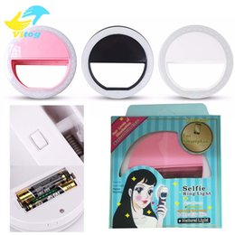 Wholesale Wholesale Camera Flash - Selfie Portable Flash Led Camera Phone Ring Light Enhancing Photography for Smartphone iPhone Samsung white pink blue black