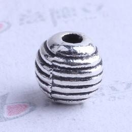 Wholesale Zinc Spacer Beads - Mini streak oval Spacer bead charm 1000pcs lot 6*6mm antique silver bronze Zinc Alloy for DIY pendant Jewelry Making Accessories 2507