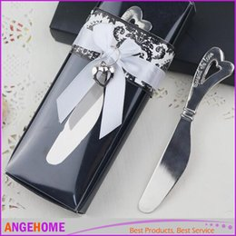 Argentina Favores y regalos de la boda, torta del pan de metal cuchillo de mantequilla tenedor hoja de cromo esparcidor del regalo del día de san valentín Suministro