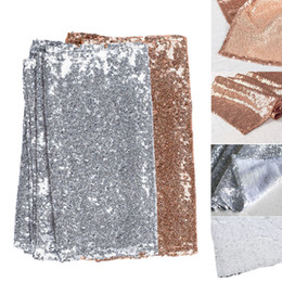 Wholesale Rose Table Runners - Gold Silver Rose Glitter Sequin Table Runner Sashes Sparkly Wedding Party Sparkly Wedding Party Evening Table Decoration