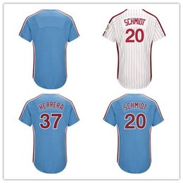 Wholesale size 37 - Men's women kid 7 Maikel Franco 20 Mike Schmidt 37 Odubel Herrera Light Blue 1982 White 1983 Turn Back Jerseys Size S-6XL