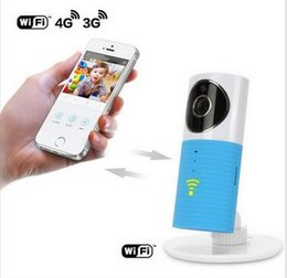 Wholesale Electric Monitor - DHL fast Mini Wireless Baby Sleep Monitor WiFi IP Camera Baby Monitor With Two-way TOPS Audio Motion Detection Night Vision 10 Meters