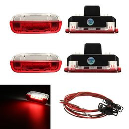 Wholesale Vw Cc Led Lights - 4 pcs Error Free 18 LED Door Warning Light with Cable 3AD 947 411 For VW Golf 5 6 Jetta MK5 MK6 CC Tiguan Passat B6 3AD 947 411