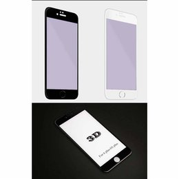Wholesale Round Glass Cover - 4D Round Curved Edge Tempered Glass For iPhone 6 6s 7 Plus Full Cover Protective Premium Screen Protector Film Safety Case 0505040