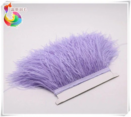 Wholesale Wholesale Ostrich Feather Lavender - Free Shipping Wholesale 10yards lot lavender 5-6 inch in width ostrich feather trimming fringe for wedding sewing crafts