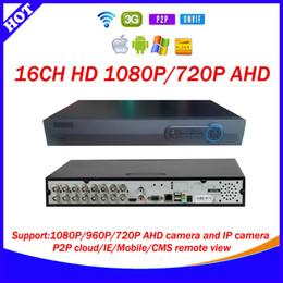 Wholesale Dvr 16 H 264 - Best product HD CCTV surveillance 16ch AHD full realtime 1080P recording security h.264 DVR HDMI 16 channel dvr video Recorder p2p