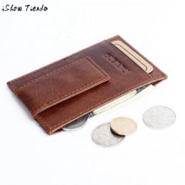Wholesale Cheap Clutch Purses Leather - Top Selling Leather Mens Wallet Money Clip Purse ID Credit Holder Coin Clutch Wholesale Cheap wallet paper