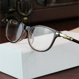Wholesale Optical Frame Retro - 2016 Fashion women eyeglasses myopia retro vintage optical glasses frame brand design square plain eye glasses oculos de grau femininos