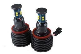 Wholesale Bmw E71 Led - H8 80w bright LED fog light bulb marker angel eyes for bmw e60 e61 e70 e71 e89 f01 f02 z4 e90 E91