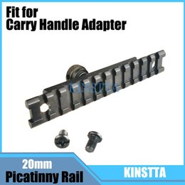Wholesale Picatinny Carry Handle Rail - Tactical Military 20mm Airsoft Carry Handle Adapter Weaver Picatinny Rail 12 Slot Scope Mounts For Hunting