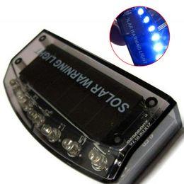 Wholesale Car Light Sensors - Wholesale- New High Quality 6LED Auto Solar Charger Car Burglar Alarm Lamp Sensor Night Security Warning Light Novelty Lighting HR