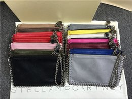 Wholesale Envelope Chain Bag - Women coin bags style European stella mccartney Fashion Chain Bag Mobile Phone Pocket Cluth purses