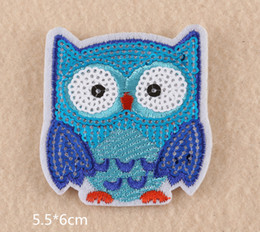 Wholesale Iron Applique Owls - 10pcs Cartoon Owl embroidered patches for sewing Bag clothing patches iron on sewing accessories applique