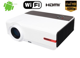 Wholesale New Projectors Tv Lcd - New Full HD 1080P 5000 Lumens 10000:1 Home Theater Android TV HDMI USB LCD LED Projector