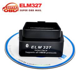 Wholesale Wireless Obd2 - Wholesale-100% Factory Price SUPER MINI ELM327 Bluetooth OBD2 V2.1 Black Smart Car Diagnostic Interface ELM 327 Wireless diagnostic Tool