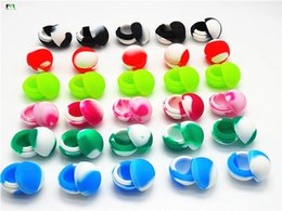 Wholesale Small Silicone Ball - Free shipping! 100 pcs lot 5.6 ml small ball shape butane hash oil silicone non-stick container for wax