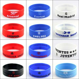 Wholesale Sports Team Jewelry - Fashion Football Team Silicone Bracelets Sports Fans Jewelry Wristband Bangles Sport Party Event Gift Radiation Protection
