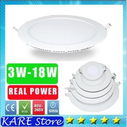 Wholesale Smd Power Led 3w - 20* real power LED Panel Light dimmale 3W 4w 6W 9W 12W 15W 18W 21w Led Ceiling Recessed Grid 85-265V Ultra thin 2835 SMD Down Light Lamps
