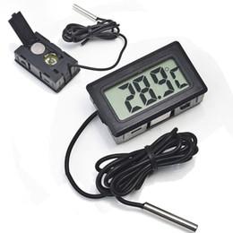 Termómetro digital del refrigerador del lcd online-Professinal Mini Digital LCD Sonda Acuario Frigorífico Congelador Termómetro Termómetro Temperatura para refrigerador -50 ~ 110 grados FY-10