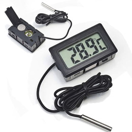 Congelador digital del termómetro del lcd del lcd online-Professinal Mini Digital LCD Sonda Acuario Frigorífico Congelador Termómetro Termómetro Temperatura para refrigerador -50 ~ 110 grados FY-10