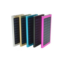 Wholesale External Solar Phone Usb Charger - 20000mAh Portable Charger thin Slim Tianshu Solar Power Bank For Mobile Phone Dual USB Ports External Battery Pack Backup