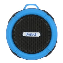 Wholesale Plastic Snap Button Black - 2016 Portable Waterproof Bluetooth 3.0 Speaker Outdoor Wireless Stereo Speaker with Microphone Sucker Snap hook-Blue + Black