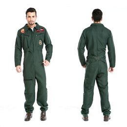 Wholesale Carnival Uniforms Adults - Halloween Costumes Uniform Temptation Club Stage Performance Clothing Adult Mens Pilot Aviator Firefighter Costume Cosplay Clothing for Men
