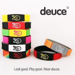 Wholesale Energy Silicone Bracelets - Newest charm bracelet Bangles Deuce bracelet wristbands Premium Wristband Fashion Basketball Energy Silicone Bracelet Free DHL