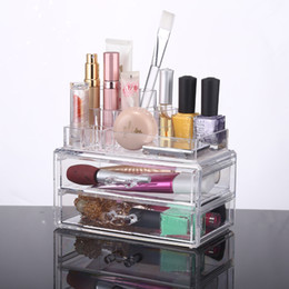Wholesale China Wholesale Cosmetic - 2016 New China Design Jewelry and Cosmetic Storage 2 Piece Acrylic Makeup Organizer YOUR BEST CHOICE