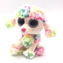 """Wholesale poodle plush toy - Ty Beanie Boos Big Eyes 6"""" Plush Colorful Poodle Dog Animal Toys"""