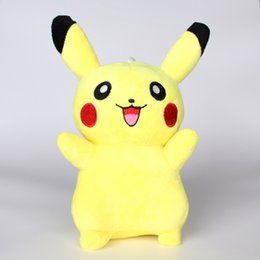 Wholesale Pikachu Costume Kids - EMS Hot 20cm(8inch) Poke Pikachu Plush Dolls Children Kids Cartoon Movies Game Costume Cosplay Stuffed Animal Toys XMAS Gifts HH-T07