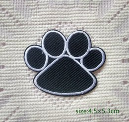 Wholesale Paws Bags - Black Bear's Paw Dog Animal Paw Print Motif Collection Iron On Cartoon Patch Shirt Trousers Vest Coat Skirt Bag Kids Gift Baby Decoration