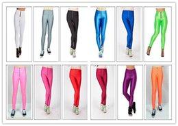 Wholesale Leggings Zip - Best women Work out Yoga sport pencil Pants Stretch pants Multicolor zip code size fluorescent candy colored female hip waist leggings 5