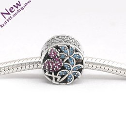 Wholesale Brand New Pandora Bracelet - 2017 Rushed Crystal New Tropical Flamingo Charm Beads Fit pandora Brand Bracelets 925 Sterling Mixed Cz Charms For Diy Jewelry Making